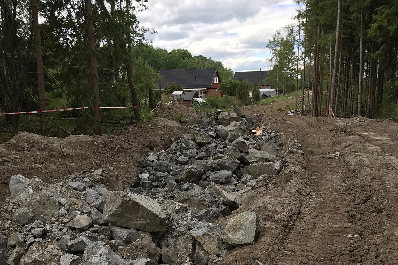 Projekt och byggledning, förläggning av ytligt förlagda ledningar