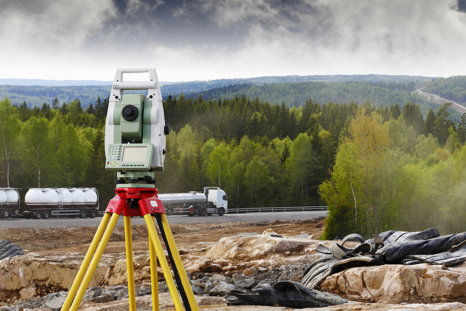 road-works, surveying and rock-blasting industry